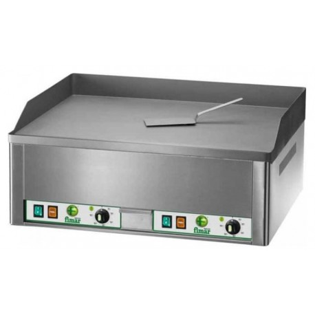 Fimar dviguba elektrinė kepimo plokštuma lygiu chromuotu paviršiumi FRY2LC
