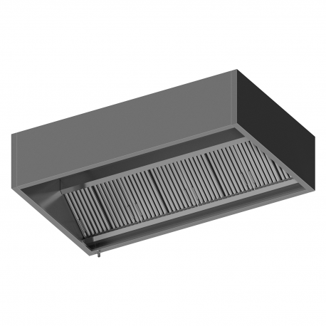 Wall Mounted Hood With Filters (Exhaust + Air Jet + Air Supply)