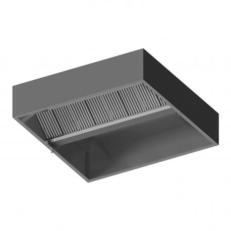 Centrinis ventiliacinis dėžutės formos gaubtas